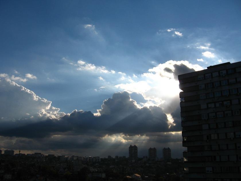 Sky over Belgrade