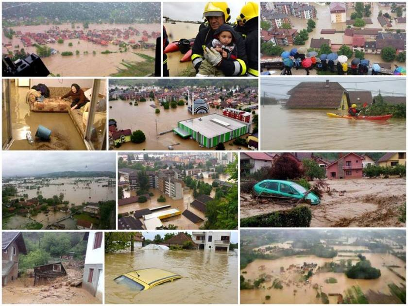 Floods in Serbia and Bosnia